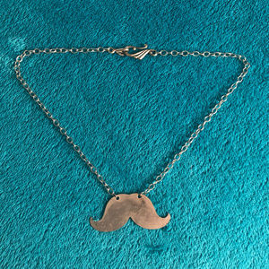 Jewelry - Silver Mustache Necklace with 18-inch Chain